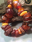 Genuine antique  amber necklace