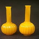 Pair of miniature Peking glass vase