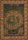 A large Pichhwai painting of rasalila
