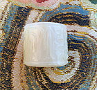 white jade nephrite eight character thumb ring