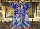 19th Century Blue embroidered dragon robe