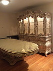 Italian Ornate carved Dinning room table and carved China Hutch