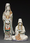 Two Kutani figures of Buddhist deities