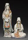 Two Kutani figures of Buddhist deities