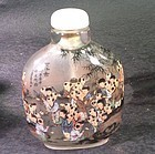 Chinese large inside painted hundred chilrend at play snuff bottle