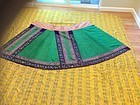 embroidered Chinese antique green skirt