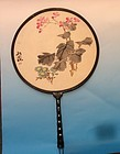 Chinese circular Fan Painting on silk