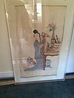 Antique Chinese Kesi panel of a mother and children