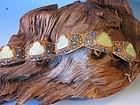 Chinese silver filigree bracelet inset jadeite happy buddha