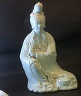 Dehua glazed porcelain figure of Guanyin