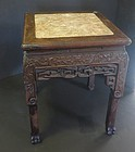 Carved Chinese Rosewood flower pot stand