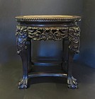 Carved Chinese Rosewood stand