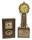 Seth Thomas Rosewood clock and Mahogany Banjo clock