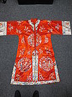 Red embroidered silk woman's coat
