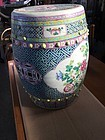Antique Chinese Famille Rose drum shape garden stool