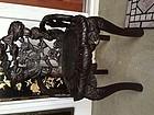 Antique Asian lotus chair