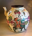 Antique Chinese porcelain tea pot