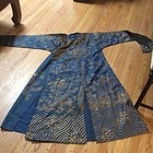 A Embroidered Blue ground  Dragon Robe
