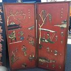 Chinese Vintage Two Panel Screen
