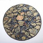 Antique Chinese Kesi-Woven roundel auspicious emblems