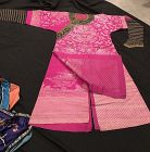 Chinese Antique Pink and silver color Dragon Brocade Robe
