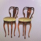 "Two Upholstered Barstools H44"" x W 19"""
