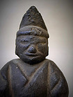 Antique Japanese Wood Carving God Statue