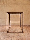 Antique Japanese Iron Frame of Andon Lantern Lamp