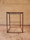 Antique Japanese Iron Frame of Andon Lantern Lamp