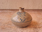 Antique Japanese Mingei Folk Seto Oil Flask