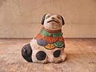 Antique Japanese Mingei Local Clay Dog