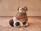 Antique Japanese Mingei Local Clay Dog