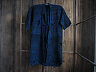 Antique Japanese Indigo Dyed Hemp Boro Kimono Cloth
