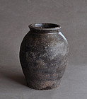 Antique Japanese Tokoname Stoneware Jar