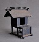 Antique Japanese Folk Wooden Shinto Zushi Shrine Altar
