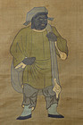 Antique Japanese Hanging Scroll Black Daikokuten