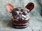 Antique Japanese Wooden Shishi Lion Head Edo period
