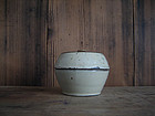Kohiki White-Glaze Lidded Container By Kawai Kanjiro