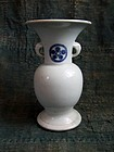 Antique Japanese Hirasa Porcelain Vase