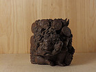Antique Japanese Wood Carving Raijin Thunder God Meiji period