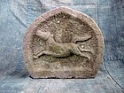 Antique Japanese Buddhist Stone Horse Edo period 19th century