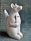 Japanese Imari White Porcelain Inari Fox Edo period 18-19c