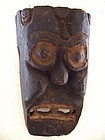 Primitive Japanese Folk Wooden Votive Shinto Mask Edo-Meiji period 19c