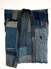 Antique Japanese Boro Textile Noragi Work Wear Meiji period 19c