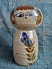 Japanese mingei folk ceramic kokeshi doll