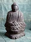 Japanese Enku style wooden Buddhist image