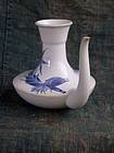 Antique Japanese Nabeshima Seikosha blue and white karakara flask