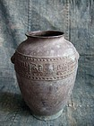 Antique Japanese bronze taotie vase Meiji period