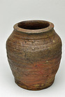 Antique Japanese Tamba jar Muromachi period 16th century