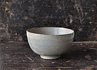 Japanese Early Karatsu tea bowl Shiinomine kiln 17th century
